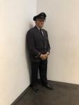 """Duane Hansen's """"Museum Guard"""" (a sculpture, not a real human)"""