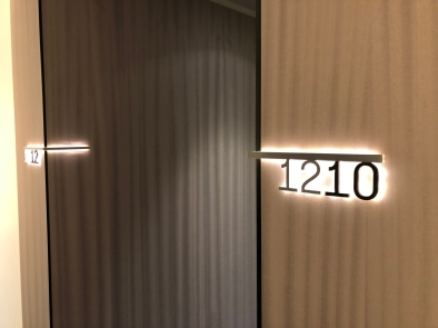 Aaaaand room number backlighting #nextlevel