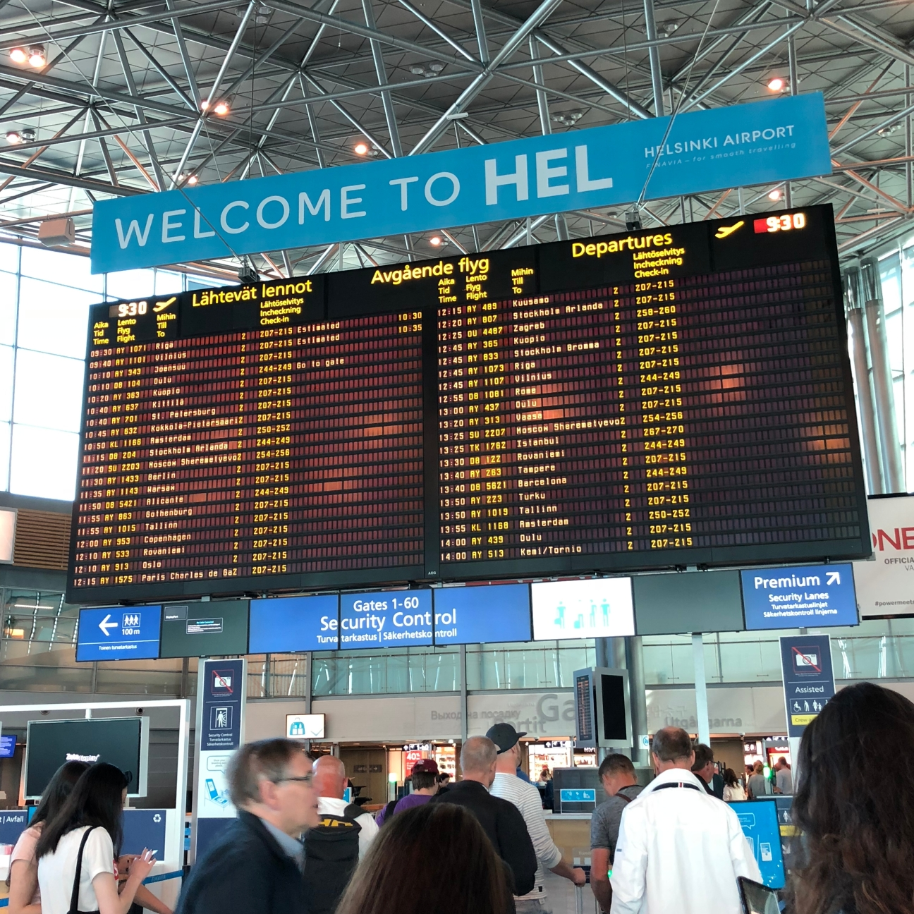 Welcome to HEL (sinki) Airport