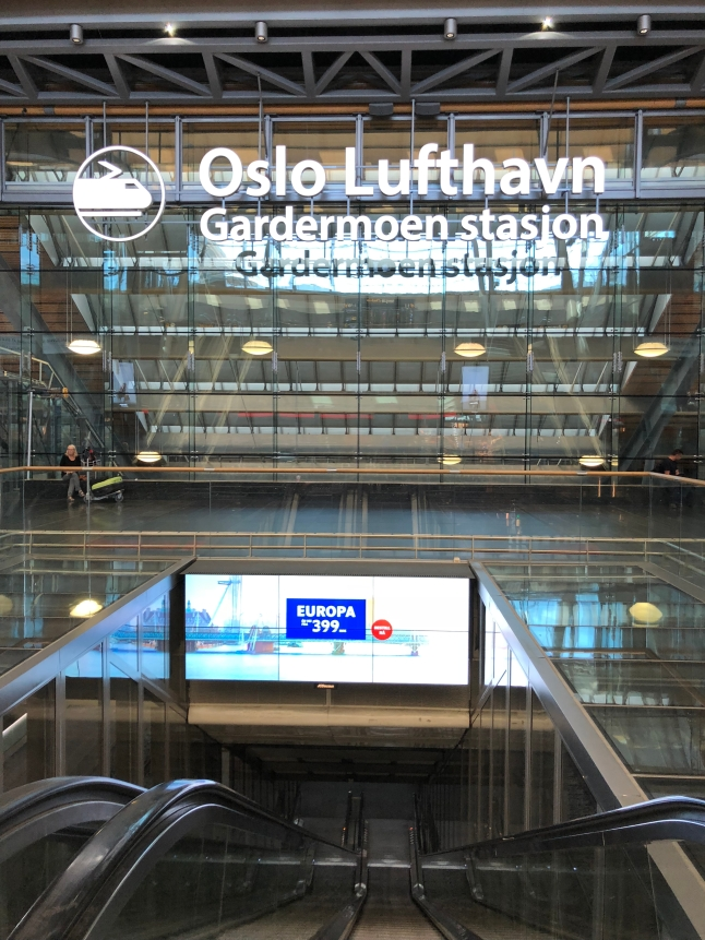 The escalator down into the metro