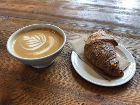 you can never go wrong with a pastry and a cappuccino