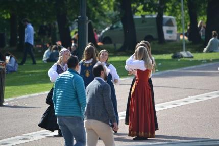 Oslo citizens celebrating