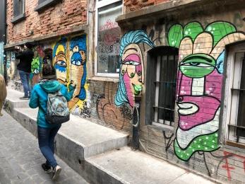 The beginning of amazing street art